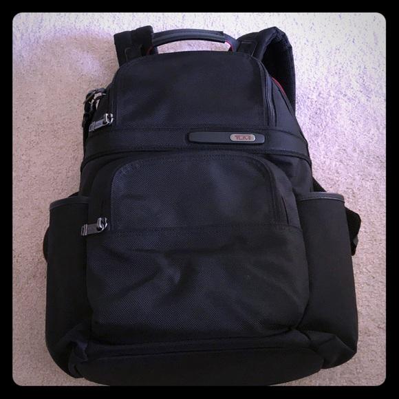 aec2be85d141 Tumi Ballistic Nylon Black Red Backpack. M 5acb89abdaa8f67f87fc40bd